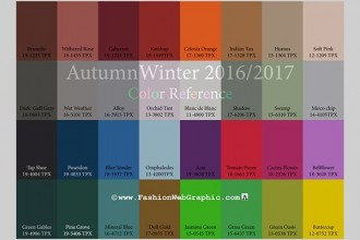 The colours of the season.