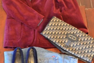 Casual days - vintage Levis - Lovering & Co, 70's blouse -Taxi Vintage, Jacket and loafers charity shop, Dior bag Ebay.